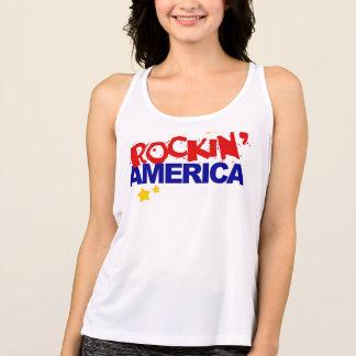 T-shirt de dames Rockin Amérique