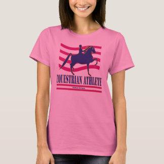 T-shirt de douille d'athlète équestre de