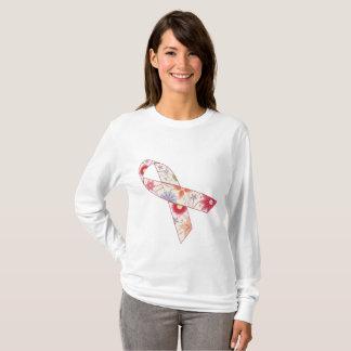 T-shirt de douille de conscience de cancer du sein