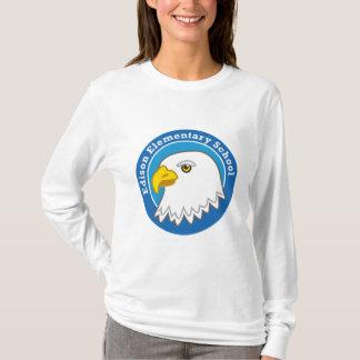 T-shirt de douille de dames d'Eagle long (lumière)