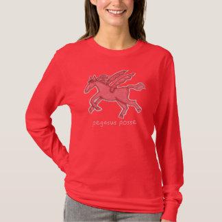 T-shirt de douille de Hanes des femmes de bande de