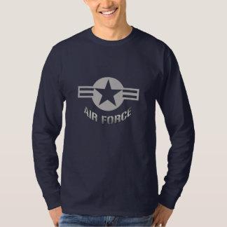T-shirt de douille de logo de l'Armée de l'Air