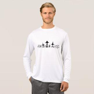 T-shirt de douille de monstres de champignon long