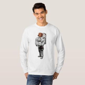 T-shirt de douille de teckel de l'espace long