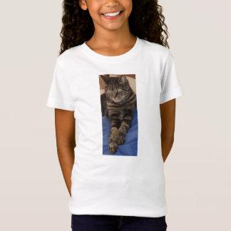 T-shirt de douille du casquette des filles