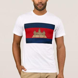 T-shirt de drapeau du Cambodge