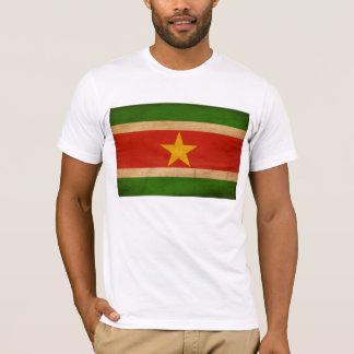 T-shirt de drapeau du Surinam