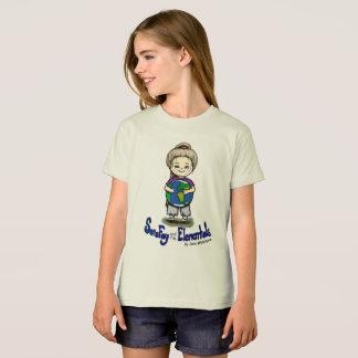 T-shirt de fée de Sara et de fille organique de