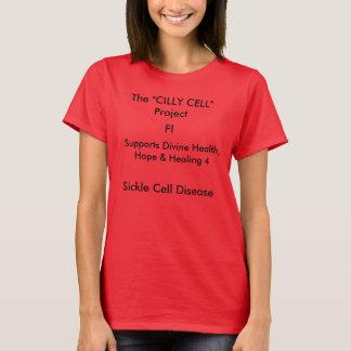 T-shirt de femelle pièce en t rouge de cellules cilly