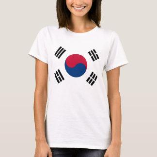 T-shirt de femmes avec le drapeau de la Corée du