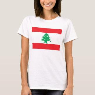 T-shirt de femmes avec le drapeau du Liban