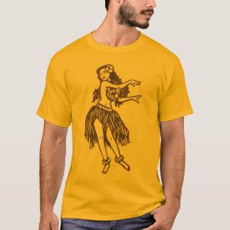 T-shirt de fille de danse polynésienne