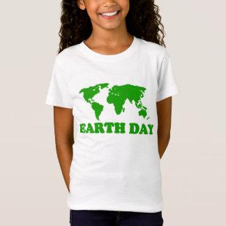 T-shirt de filles de carte d'herbe de jour de la