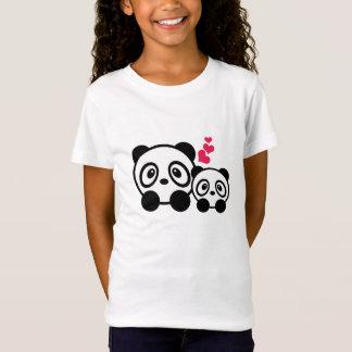 T-shirt de filles de couples de panda