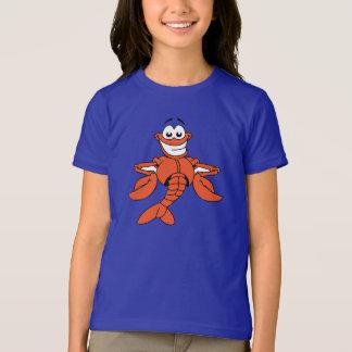 T-shirt de filles de homard de bande dessinée