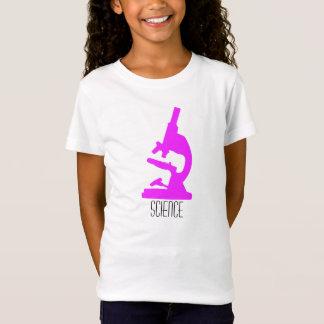 T-shirt de filles de microscope de la Science