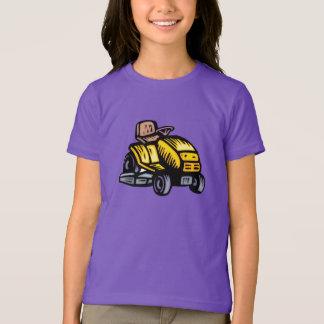 T-shirt de filles de tondeuse à gazon d'équitation