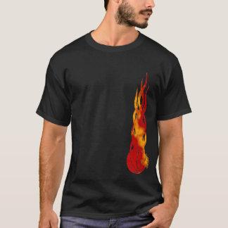 T-shirt de Fireballer de boule de panier