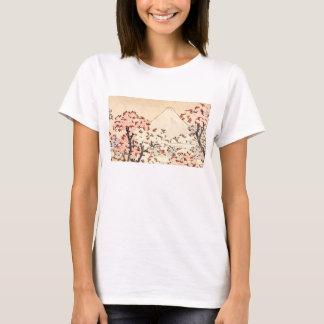 T-shirt de fleurs de cerisier de Hokusai le mont