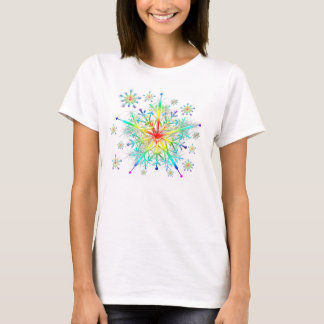 T-shirt de flocon de neige de cristal de glace de