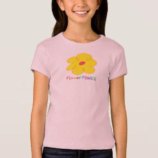T-shirt de flower power de filles