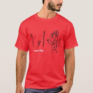 T-shirt de garçon de batteur