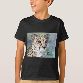 T-shirt de garçons d'aceo de portrait de guépard