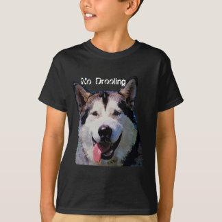 """T-shirt de garçons de Malamute d'Alaska """"aucun"""