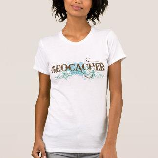 T-shirt de Geocacher des femmes mignonnes