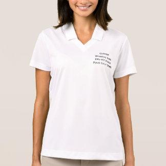 T-shirt de golf de polo de piqué de Dri-AJUSTEMENT