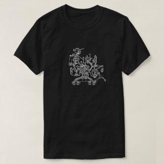 T-shirt de griffonnage de travailleur de robot