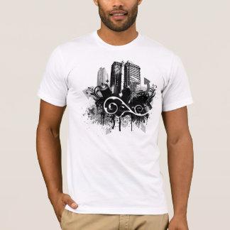 T-shirt de grunge de ville