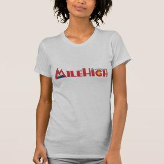 T-shirt de haut de logo de mille, argent