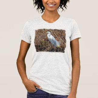 T-shirt de héron de grand blanc