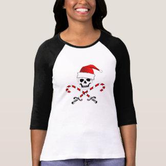 T-shirt de jolly roger de Noël de pirate