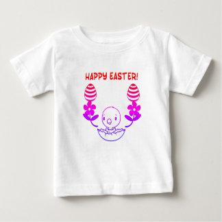 "T-shirt de ""Joyeuses Pâques"" de bébé"