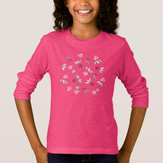 T-shirt de la douille de filles de fleurs de