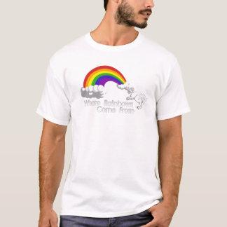 T-shirt De là où les arcs-en-ciel viennent