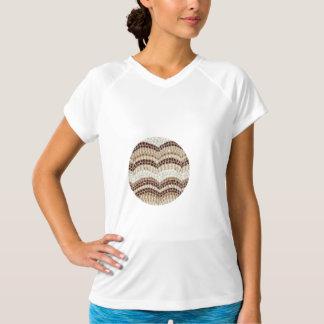 T-shirt de la représentation des femmes beiges de