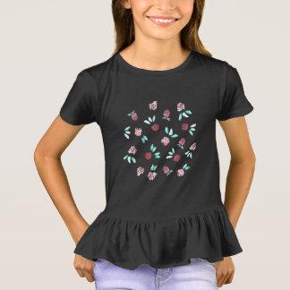T-shirt de la ruche de filles de fleurs de trèfle