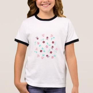 T-shirt de la sonnerie de filles de fleurs de