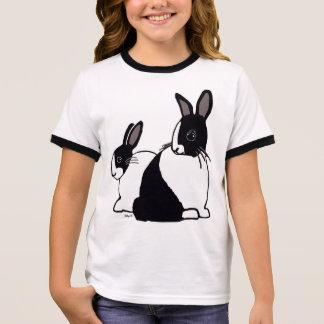 T-shirt de la sonnerie de la fille néerlandaise