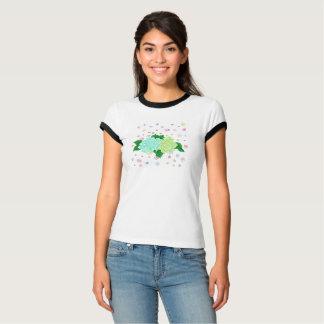 T-shirt de la sonnerie des femmes peintes à la