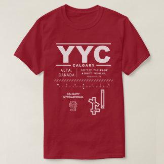 T-shirt de l'aéroport international YYC de Calgary
