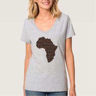 T-shirt de l'Afrique des femmes