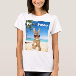 T-shirt de lapin de plage