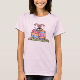 T-shirt de lapin et d'oeufs de Pâques