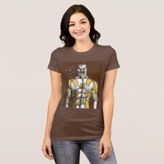 T-shirt de lard et d'homme d'oeufs