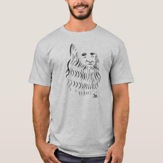 T-shirt de Leonardo da Vinci (gris-clair)