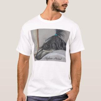 T-shirt de lévrier afghan